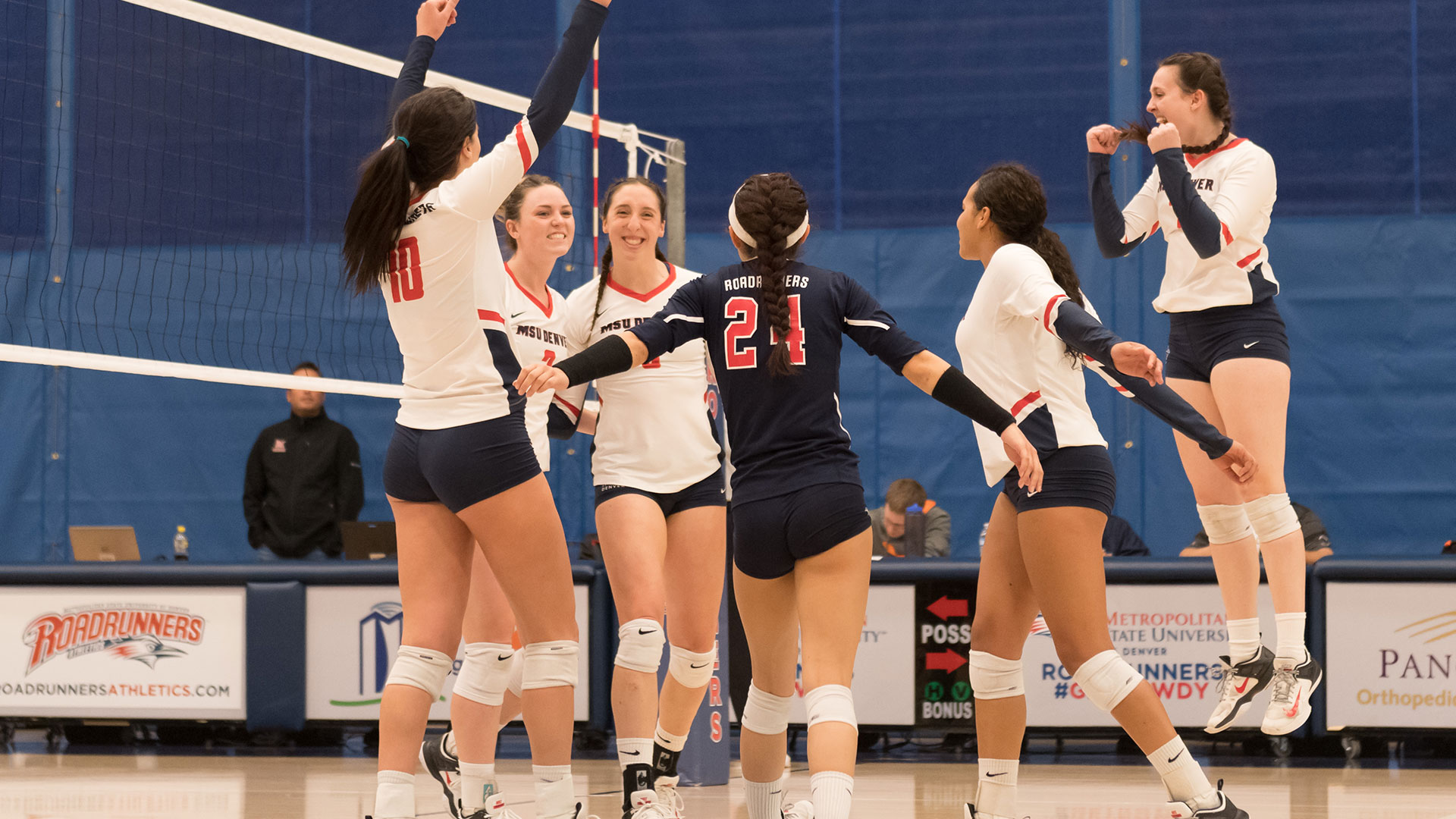Volleyball Msu Denver Defeats Thunderwolves In Three Sets Metropolitan State University Athletics